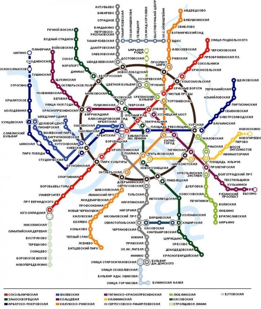 схема нового метро подмосковье
